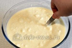 Блины с сыром и зеленью: Перемешала тесто