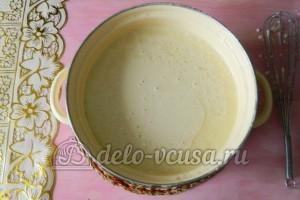 Блинчики с шоколадом: Добавить подсолнечное масло