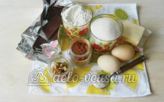 Брауни с орехами: Ингредиенты