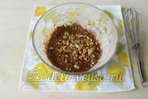 Брауни с орехами: Добавляем орехи в тесто