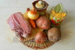 Гороховый суп со свининой: Ингредиенты