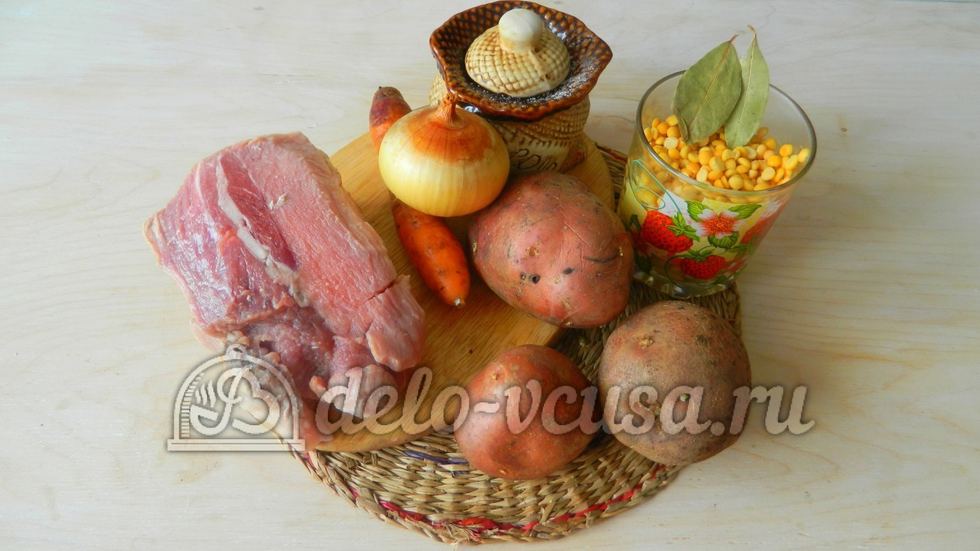 рецепт горохового супа с мясом с фото