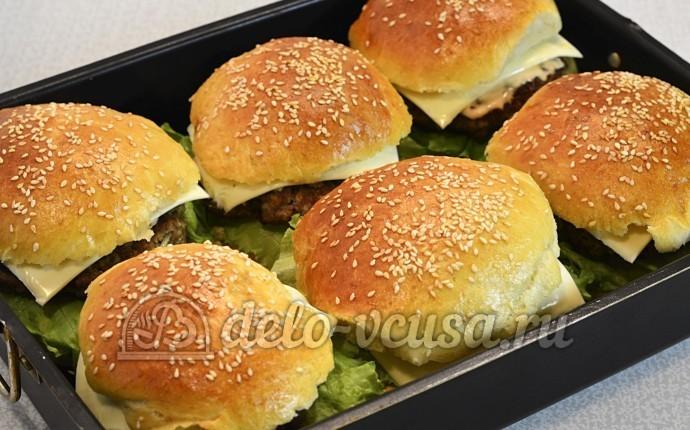 Домашний чизбургер: Отправляем в духовку