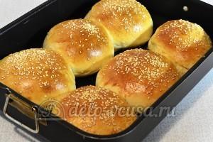 Домашний чизбургер: Выпекаем булочки до готовности