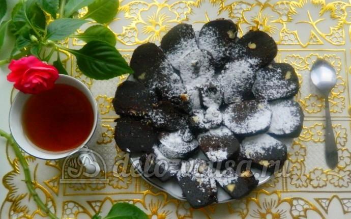 Рецепт сладкая колбаска из бисквита