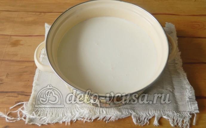 Домашний сыр Фета: Молоко вылить в кастрюлю