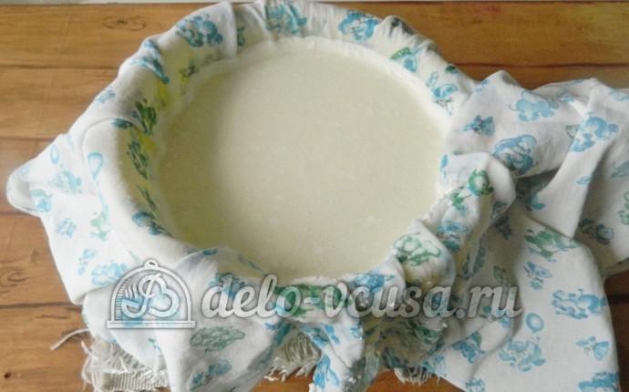 Домашний сыр Фета: Перелить молоко