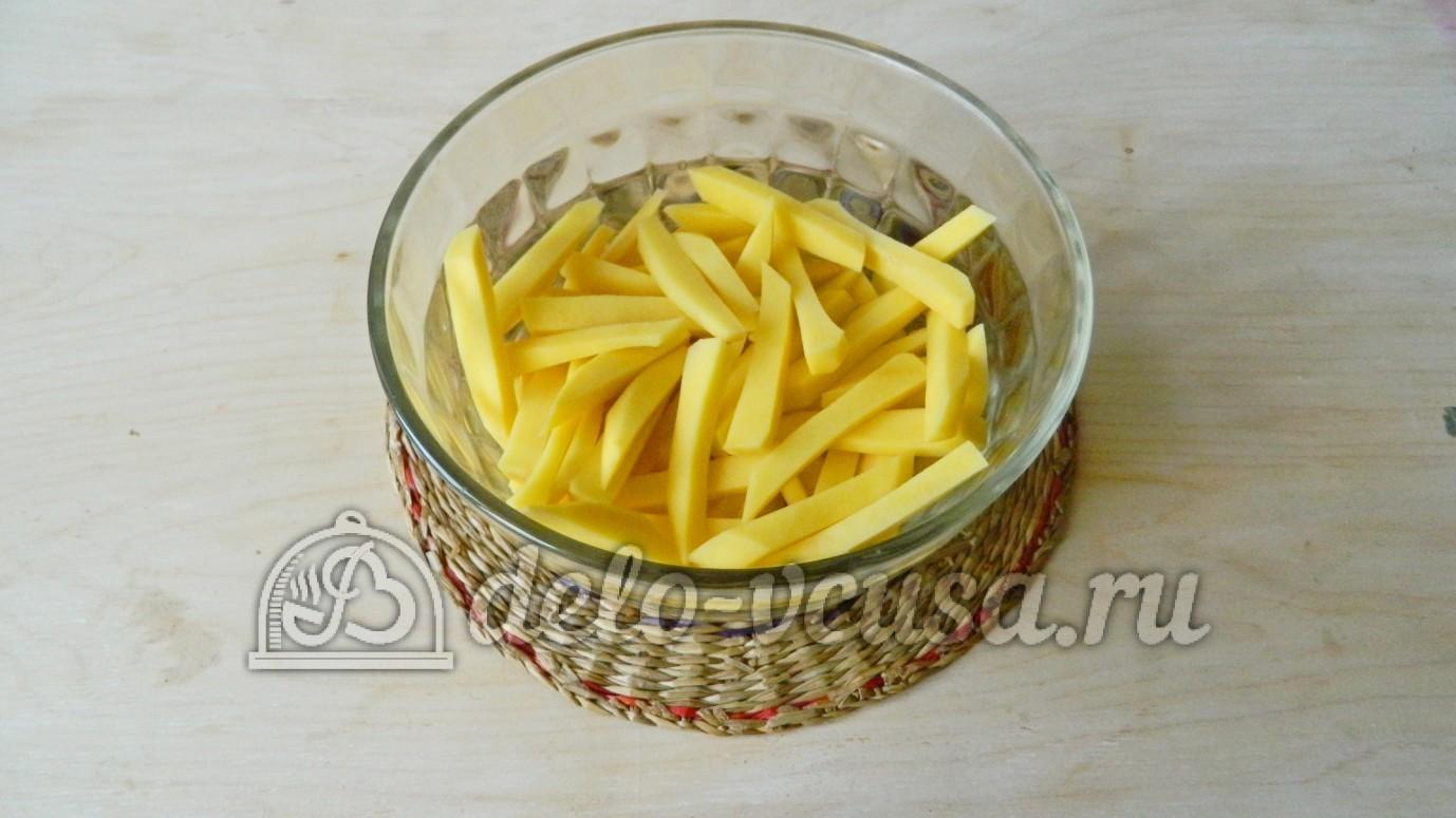 картошка фри в духовке пошаговый рецепт