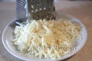 Картофельная бабка с грибами: Картошку натереть