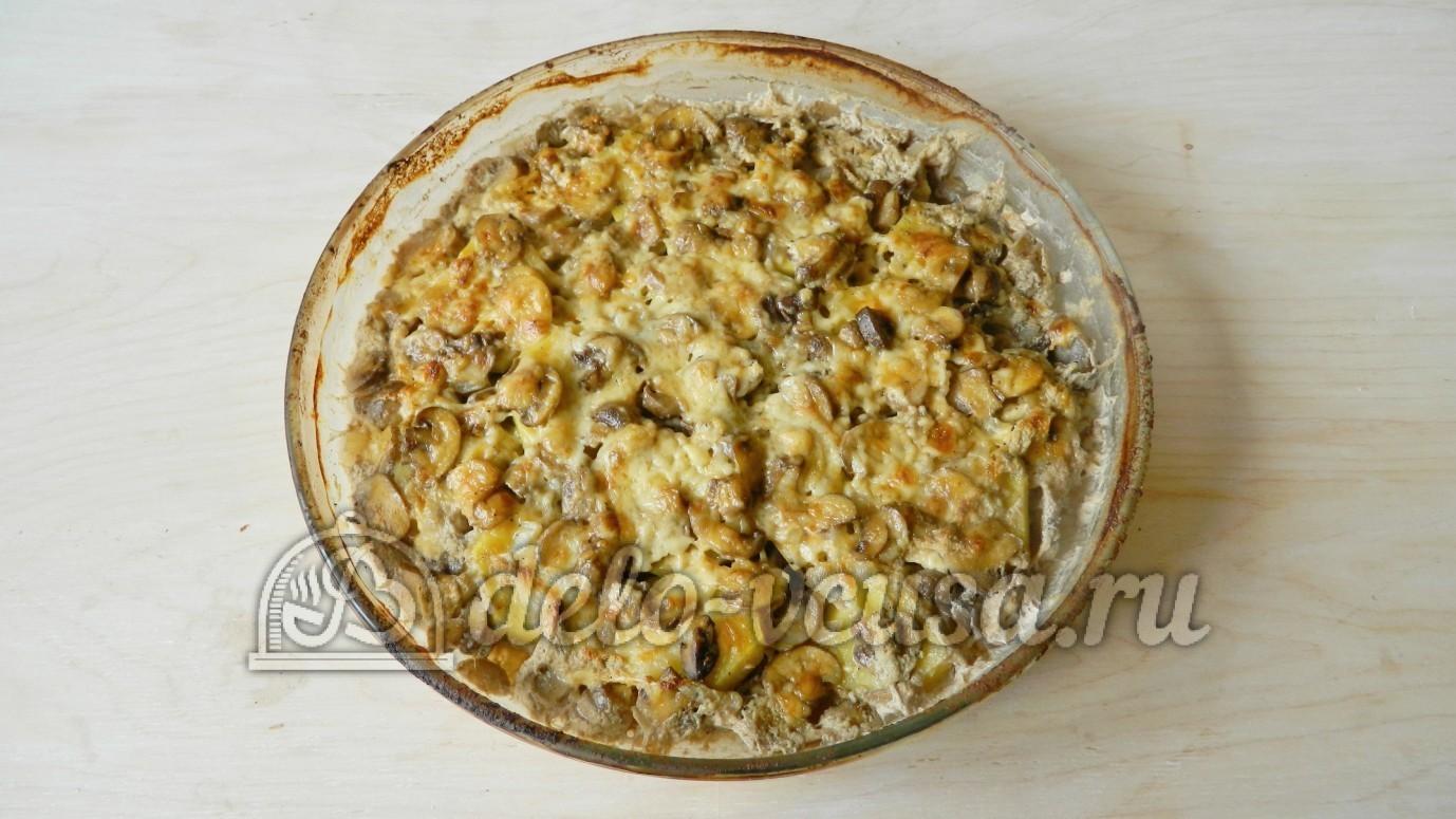 Запеканка картофельная с фаршем и грибами в духовке видео