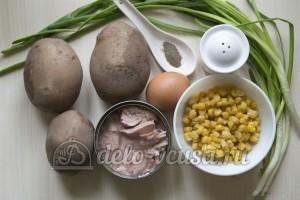 Котлеты из консервов и картошки: Ингредиенты