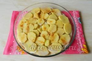 Картошка с мясом в духовке: Добавить смесь