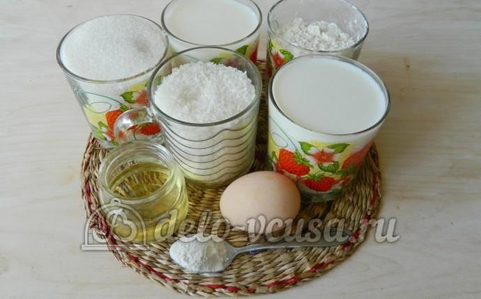 Кокосовый пирог со сливками: Ингредиенты