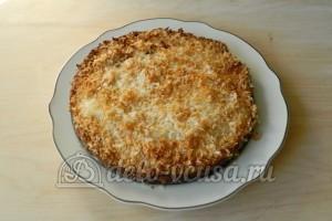Кокосовый пирог со сливками: Пирог сервировать
