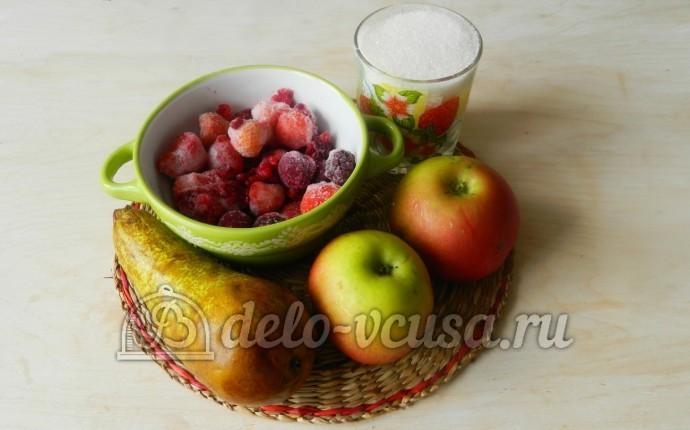 Компот из яблок, груш и ягод : Ингредиенты