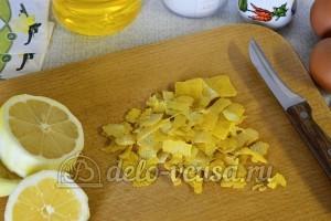 Лимонные блины: Сняла лимонную цедру