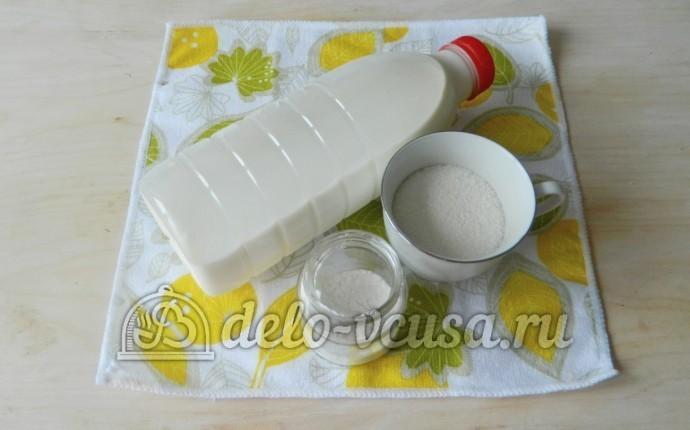 Молочный кисель: Ингредиенты