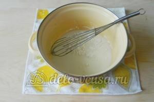 Молочный кисель: Соединить часть молока и крахмал