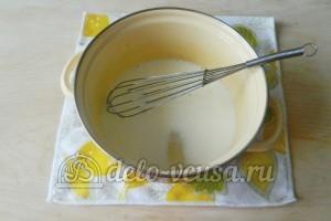 Молочный кисель: Соединить молоко и сахар