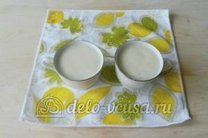 Молочный кисель: Разделить на порции