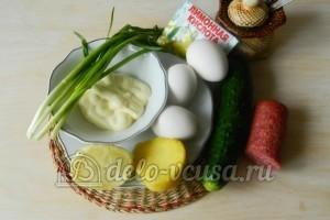 Окрошка на лимонной кислоте: Ингредиенты