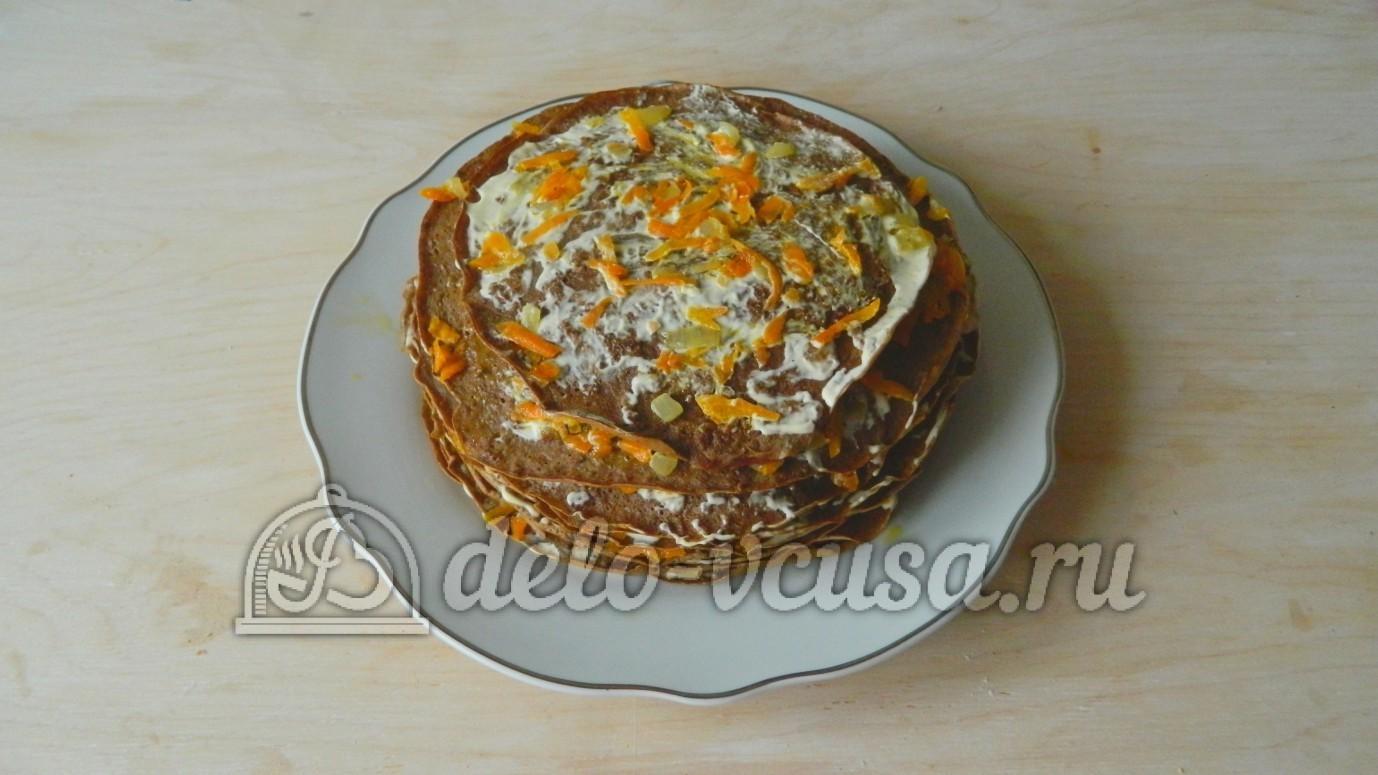 Печеночный торт куриная печень рецепт пошагово в
