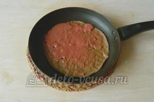 Печеночный торт из свиной печени: Обжариваем печеночный блинчик
