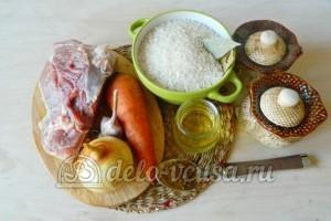 Плов со свининой на сковородке: Ингредиенты