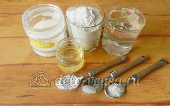 Постные блины на воде: Ингредиенты