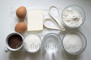 Шоколадные капкейки с кремом: Ингредиенты