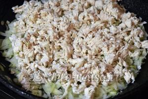 Салат Гранатовый браслет: Куриное филе измельчить