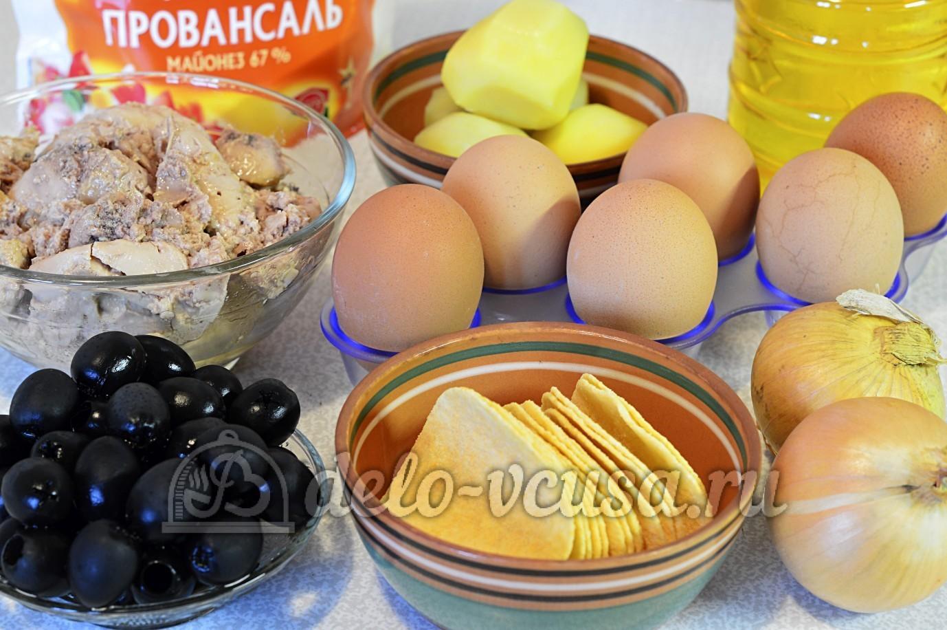 Рецепт салата подсолнух ингредиенты