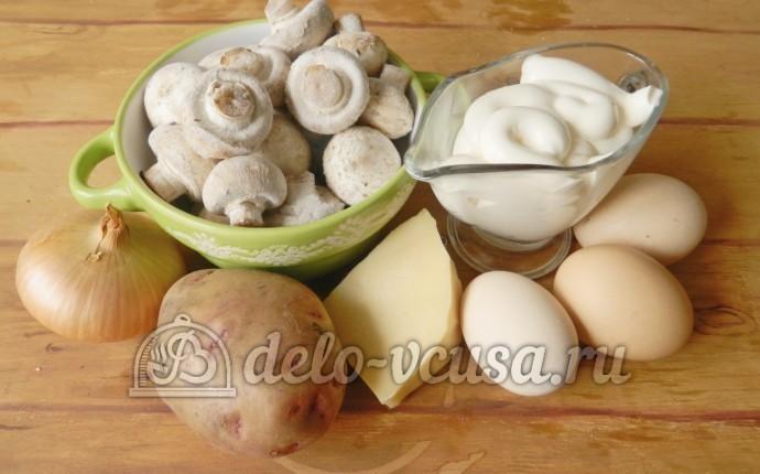 Салат с грибами и сыром: Ингредиенты