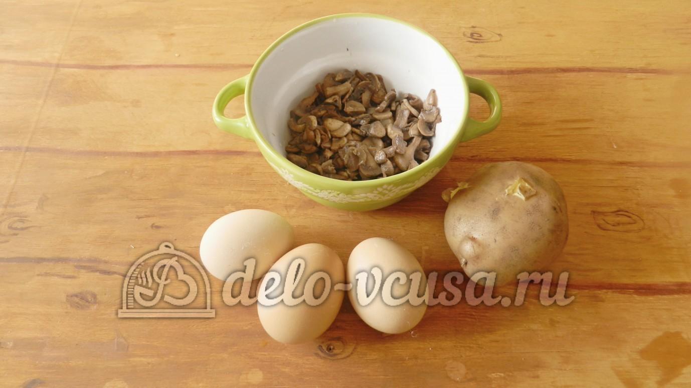 рецепт салата слоями с грибами и сыром