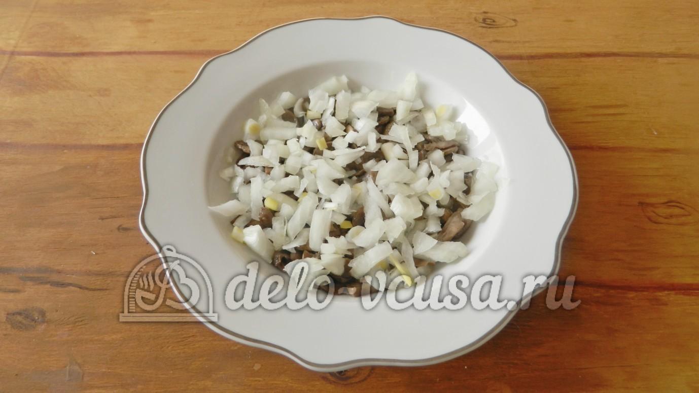 салат с грибами и сыром слоями рецепт с фото