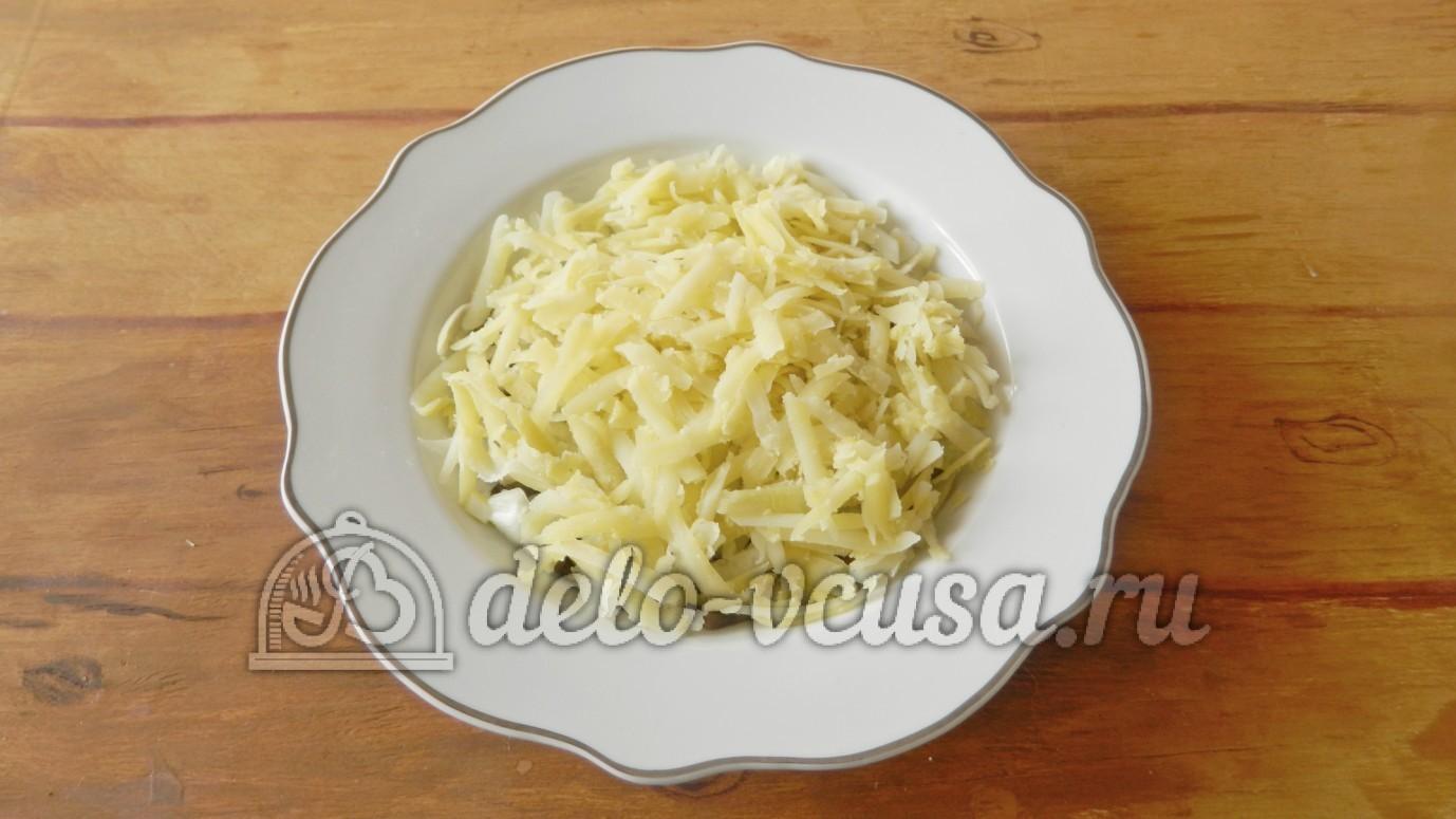 рецепт грибной салат с сыром и