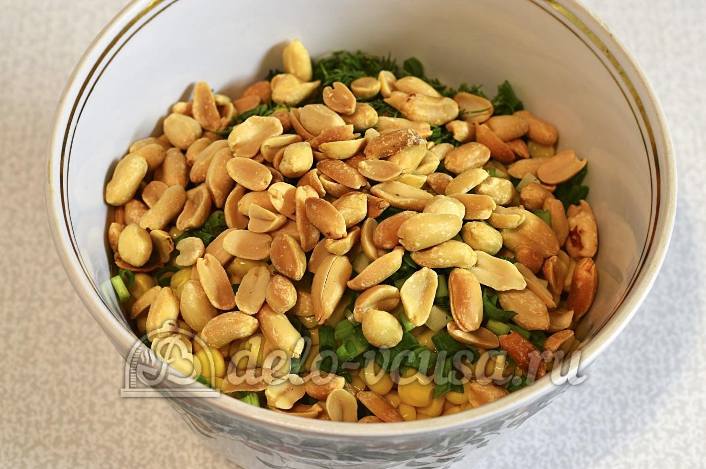 рецепт салата жареный лук