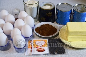 Шахматный торт: Ингредиенты