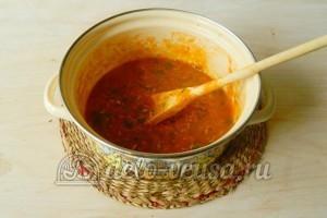 Соус из соленых помидоров: Варим 20 минут