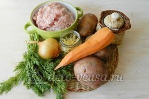 Суп с фрикадельками в мультиварке: Ингредиенты