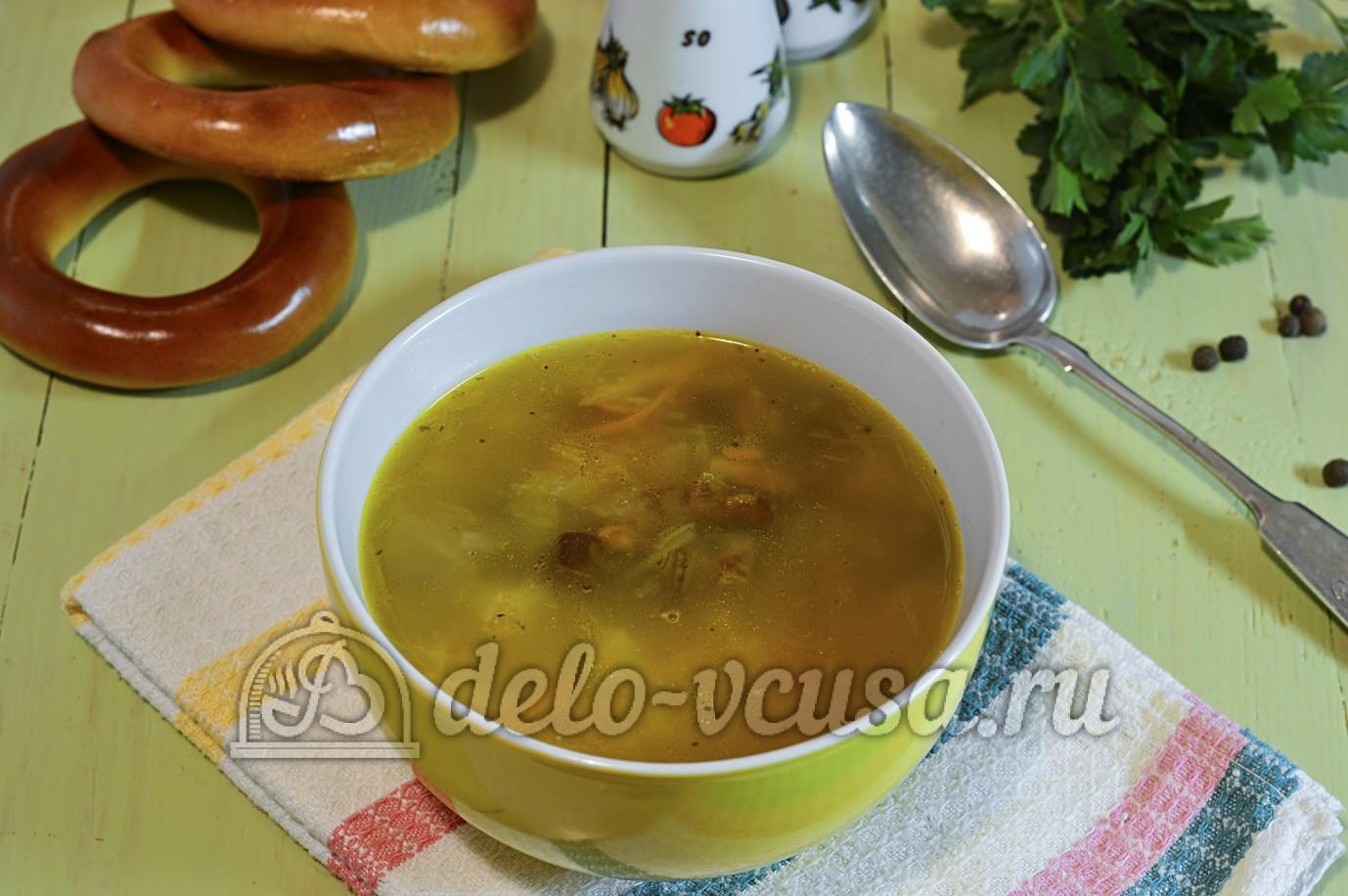 Суп с опятами и картошкой