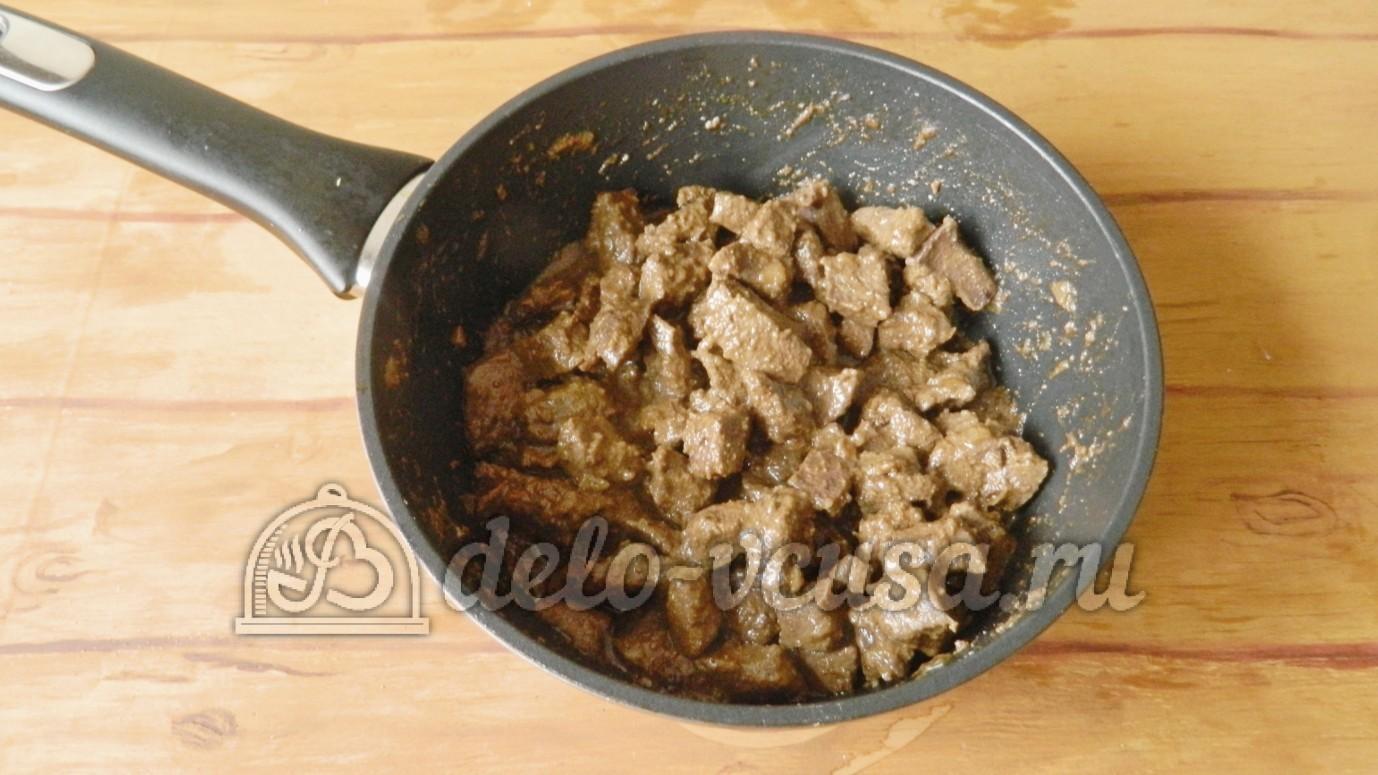 Как приготовить печень свиную в сметане пошаговый рецепт