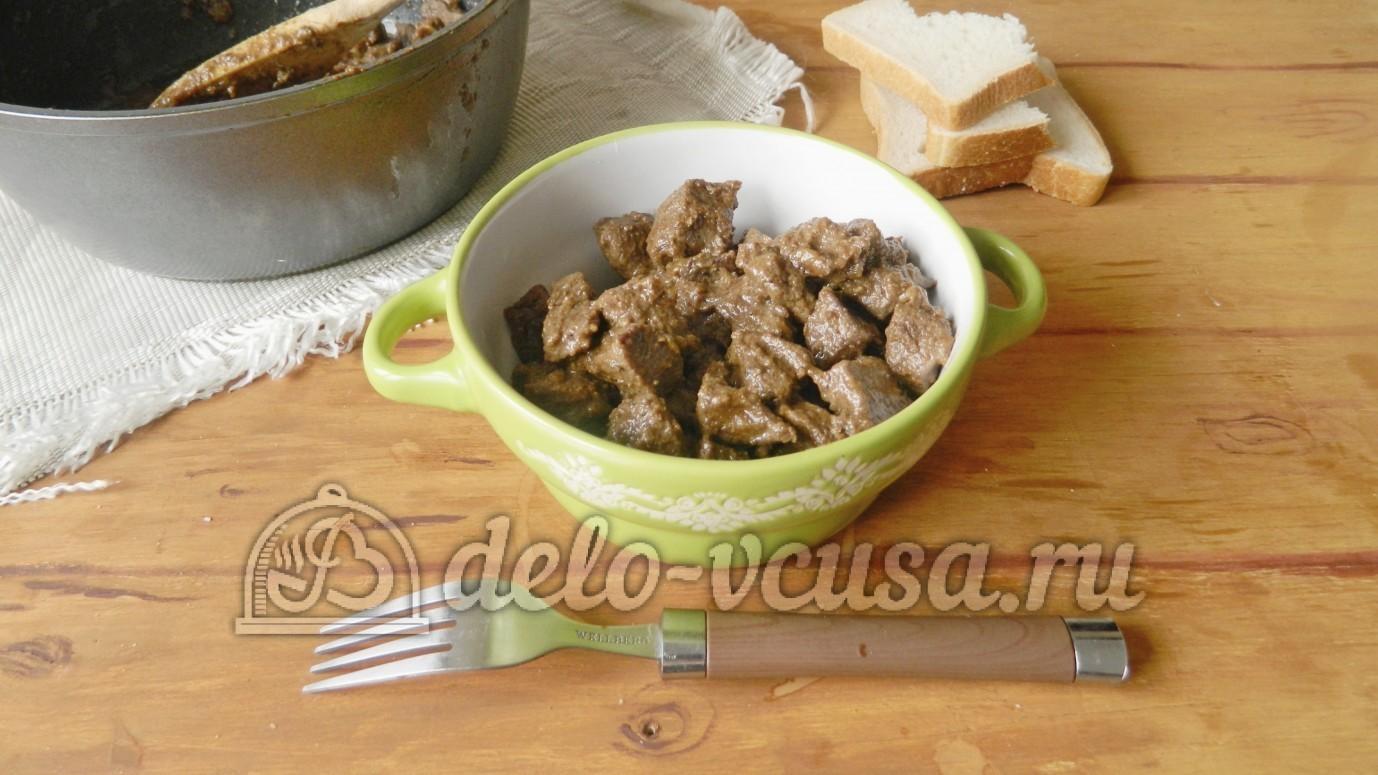 рецепт свиная печень в сметане в духовке рецепт