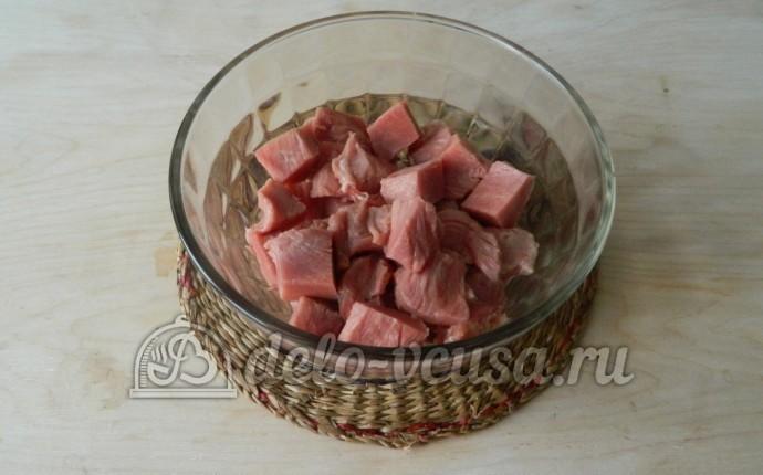 мясо маринованное в майонезе на сковороде