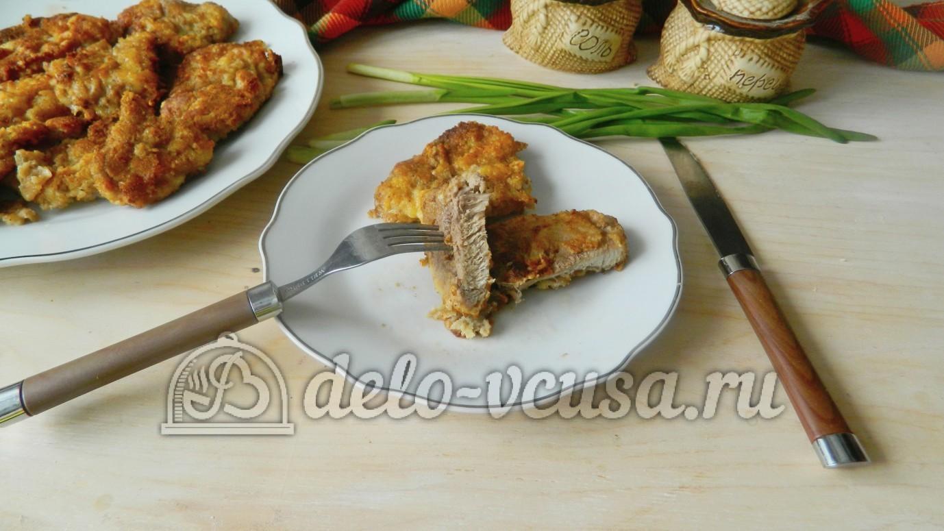 куриная отбивная под сыром в духовке рецепт с фото