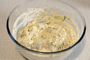 Сырники с зеленью: Замесить тесто