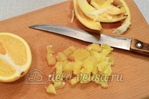 Тарталетки с курицей и апельсином: Апельсин порезать