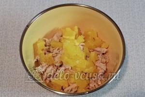 Тарталетки с курицей и апельсином: Готовим начинку
