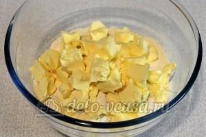 Тарталетки с курицей и апельсином: Порезать сливочное масло