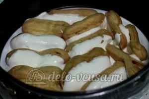 Торт Дамские пальчики: Окунаем печенье в крем